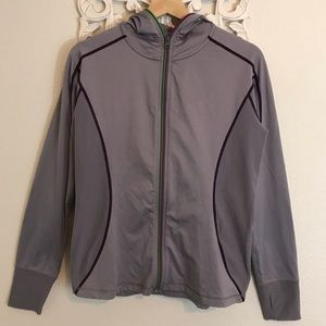 TITLE NIKE JACKET GRAY AND PURPLE SIZE M